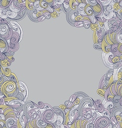 Abstract seamless hand-drawn frame vector image