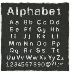 Alphabet old black board vector