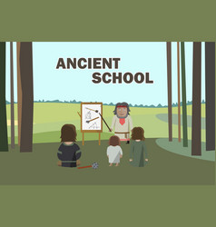 ancient school in forest vector image