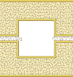 Antic maze frame vector image