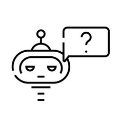 artificial intelligence learning line icon vector image