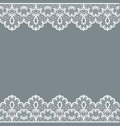 Background with lace borders vector