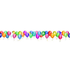banner balloons vector image
