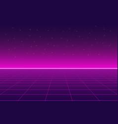 Bright retro pink purple background futuristic vector