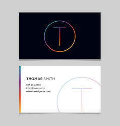 business-card-letter-t vector image