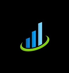 Business finance chart logo vector
