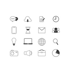 business icon set isolated vector image