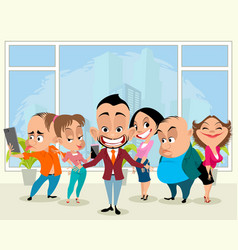business team in office vector image