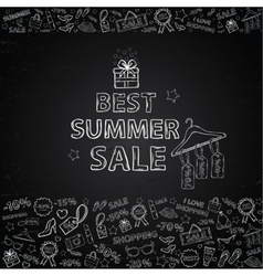 Chalk board Summer Sale vector
