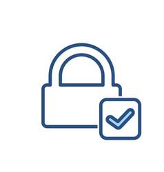 check lock padlock password private secure icon vector image