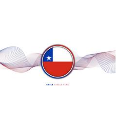 Chile circle flag vector