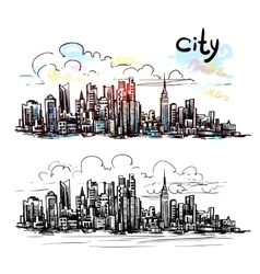 city sketch vector image