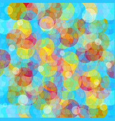colored circles abstract geometric background vector image
