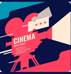 Colorful poster cinema in vector