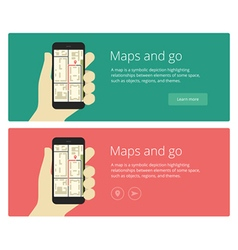 Concepts flat design web banners and promotion for vector image