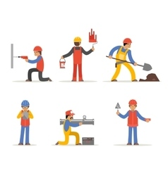 Construction worker architect and engineer vector image