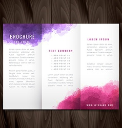 Creative trifold brochure made with colorful ink vector