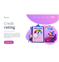 Credit rating concept landing page vector
