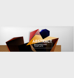 Dark 3d triangular low poly shapes abstract vector
