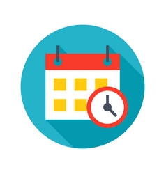 Deadline icon vector