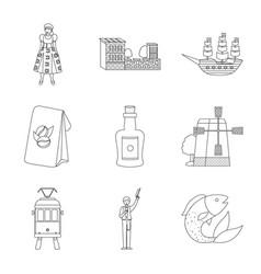 Design tourism and landmark logo vector