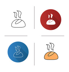 dinner roll icon vector image