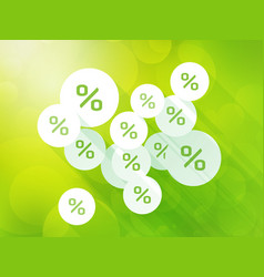 discounts on green spring background vector image