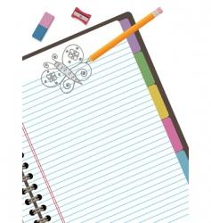 doodle notebook vector image