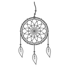 dreamcatcher with feathers and beads vector image