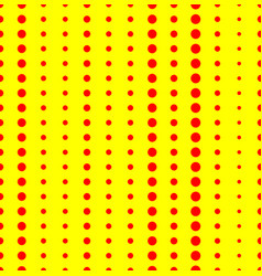 Duotone red yellow pop art polka dot dotted vector