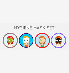 Face cleaning and care icons set vector