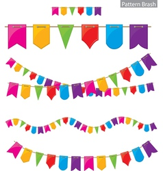 flag garland vector image