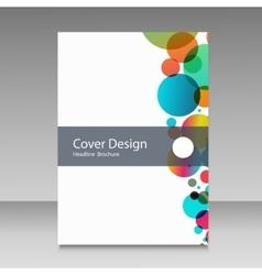 flat squares design information brochure vector image
