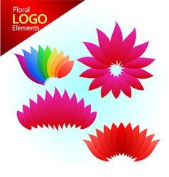 floal logos vector image