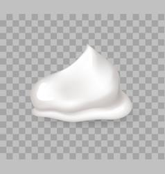 Fresh whipped cream sweet creamy bases for bakery vector