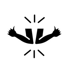 greeting hitting elbows silhouette style icon vector image
