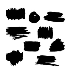 Hand drawn black paint brush frames vector