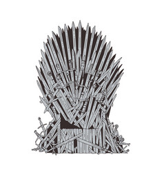 Hand drawn iron throne westeros made antique vector