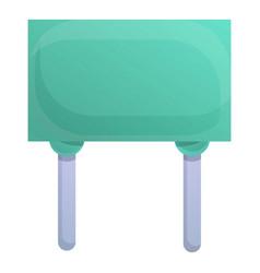 Internet capacitor icon cartoon style vector