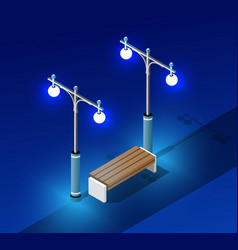 isometric night light lighting vector image