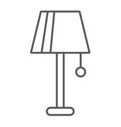 lamp thin line icon furniture and electric light vector image