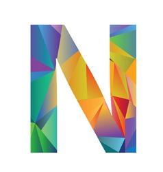 Letter N vector