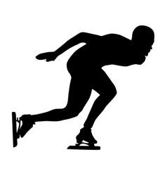 Man athlete speed skater vector