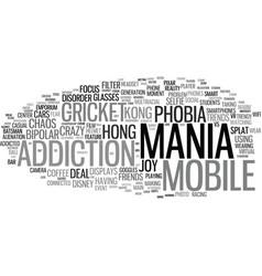 Mania word cloud concept vector