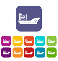 Marine ship icons set vector