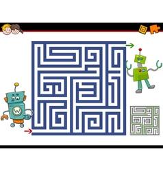 Maze activity for kids vector