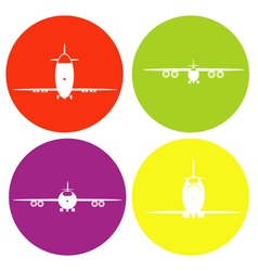 monochrome icon set with planes vector image