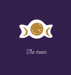 moon vintage cosmic vector image