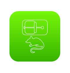 mousetrap icon green vector image