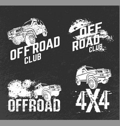 Off road club logos vector